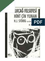 Ilk Cag Felsefesi Hint Cin Yunan H J Storig