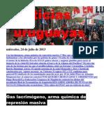Noticias Uruguayas miércoles 24  de julio del 2013
