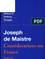Joseph de Maistre-Maistre_ Considerations on France (Cambridge Texts in the History of Political Thought) (1995)