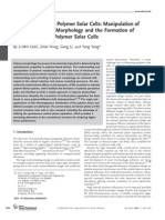 Recent Progress in Polymer Solar Cells Manipulation of PolymerFullerene Morphology and the Formation of Efficient Inverted Polymer Solar Cells