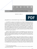 Apple, M. (1999). El libro de texto y la política cultural. Revista de