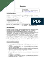 Experienced StoreSupervisor Resume Model 2