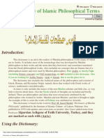 Dictionary of Islamic Philosophical Terms
