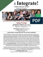 Abilities Outreach Toronto Flyer