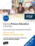 Starting Primary Education in Bromley 2013 Booklet 2