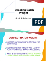 Correcting Batch Weight