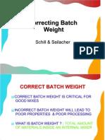 Correcting Batch Weight