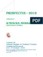 334_Prospectus-2013 for Admission to M.tech