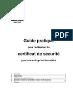 Guide pratique pour l'obtention du certificat de sécurité