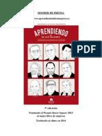 Dossier de Prensa del libro «Aprendiendo de los mejores» (Alienta, 2013, 5ª edición) de Francisco Alcaide Hernández.