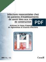 Infections nosocomiales d'établissements de santé liées aux travaux de construction