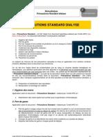 Hémodialyse Précautions Standard dialyse