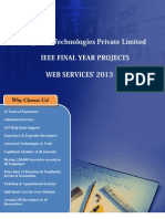 Final Year IEEE Project 2013-2014  - Web Services Project Title and Abstract