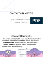 Derma Report Contact Dermatitis
