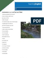 Worksheets Litter Poem