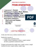 Chap 1-Descriptive Statistics