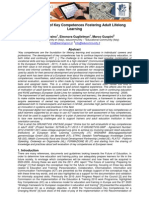 """Self Evaluation of Key Competences – Fostering Adult Lifelong Learning"""