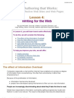 WebWeb Authoring That Works, Lesson 4_ Writing for the Web