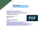 Desempleo registrado y prestaciones de los extranjeros en castilla-la mancha 2009