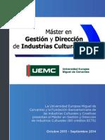 Dossier Informativo Máster en Gestión y Dirección de Industrias Culturales de la UEMC-FIBICC02