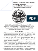 WISCONSIN GLIFWC - National Forest Treaty Gathering and Camping Regulation Summary