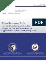 9-11 Report on Bush Admin Missed Oppty