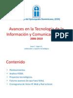 Avance TIC en La CED 2006-2010
