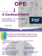 European Survey June 2013 MSLGROUP Freethinking