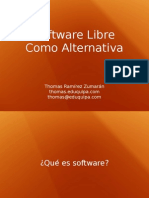 Software Libre Como Alternativa