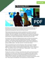 newtrendsinmarketing2013bypeterfisk-121003055435-phpapp02
