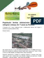 População detém adolescente que tentou estuprar criança de 7 anos na Paraíba