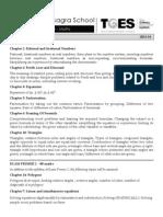 Std 9 Maths Plan 2013-14