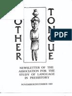 Mother Tongue Newsletter 9 (November-December 1989)