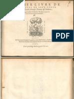 Morlaye Premier Livre de Tabulature de Leut
