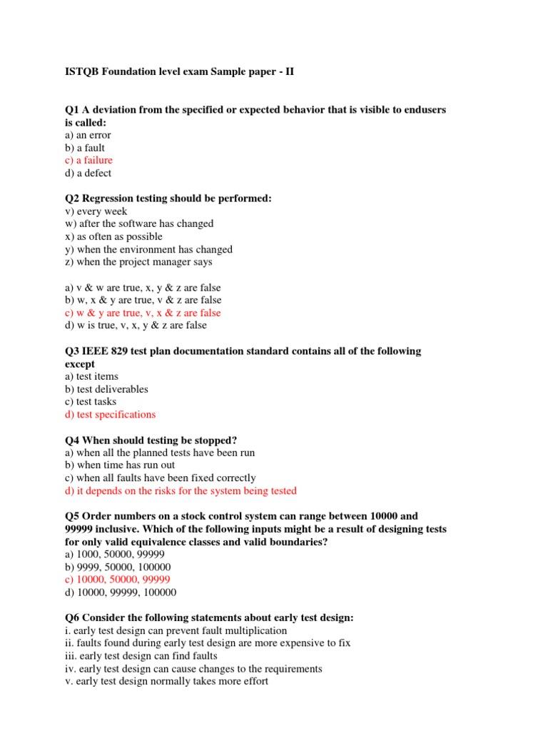 Itqsb Sample Paper 2 C Programming Language Software Testing