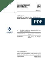Ntc 2175-Material de Vidrio Para Laboratorio Buretas