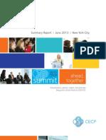 2013 CECP Summit Summary Report