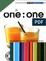 Business One-One Pre-Intermediate Student's Book