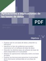 Bases de Datos Aplicaciones e Implicaciones