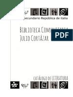 CATÁLOGO DE LITERATURA