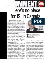 There is No Place for the ISI in Canada