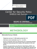 Center for Security Policy - National SHIELD Act Survey Charts 072213