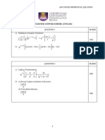Suggested Answer Scheme MAT 565/480 (Advanced Differential Equation) JUNE 2012
