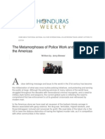 The Metamorphoses of Police Work and Strategy in the Americas