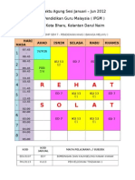 Jadual Waktu Pk 2012