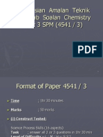 Teknik Menjawab Kimia 3 SPM...