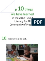 Literacy for All Top Ten