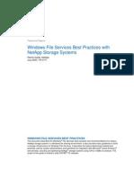 Windows File-Service Best Practice TR-3771