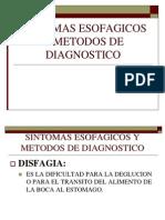 Sintomas Esofagicos y Metodos de Diagnostico