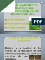 LA POLÍTICA AMBIENTAL UTILIZA LOS TRES CONCEPTOS BÁSICOS
